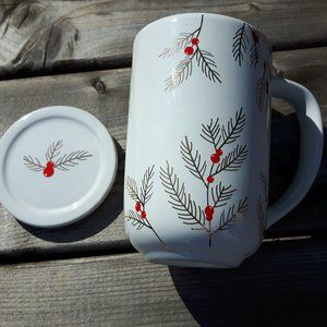 Davids Tea Nordic Mug Holiday Berries Holly